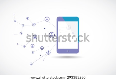 Mobile phones technology business concept - stock vector