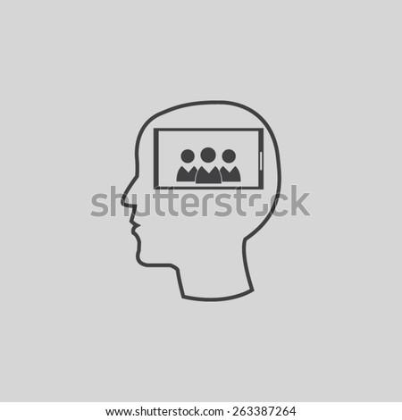 Mobile smart phone vector icon  - stock vector