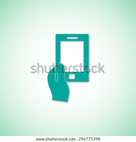 Mobile smart phone vector icon  - stock vector