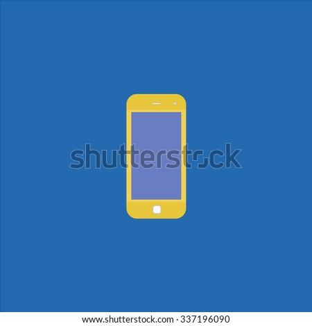 Mobile smartphone. Icon Vector. Icon Picture. Icon Graphic. Icon Art. Icon JPG. Icon JPEG. Icon EPS. Icon AI. Icon FLAT. Icon SIMPLE - stock vector