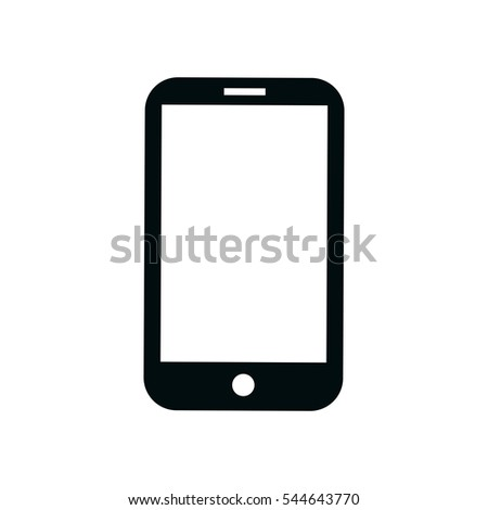 phone smartphone icon vector illustration touch stock vector