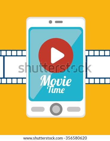 Mobile smartphone technology, vector illustration graphic design - stock vector