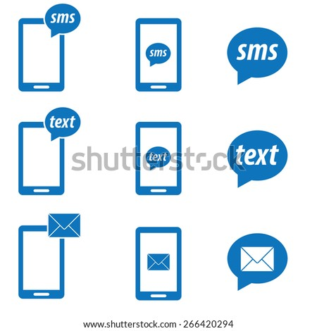 Mobile sms text message - stock vector