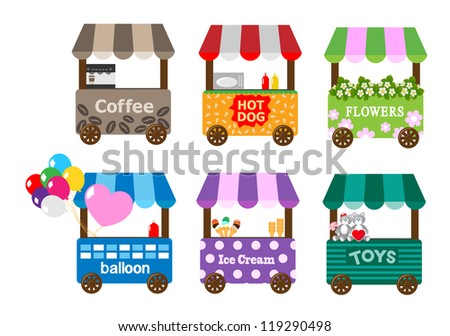 Mobile stores - stock vector