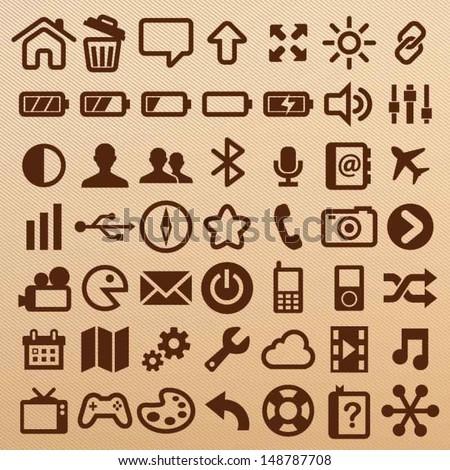 Mobile symbols - stock vector