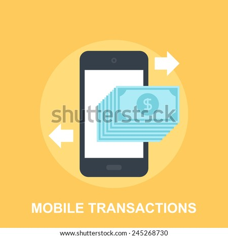 Mobile Transactions - stock vector