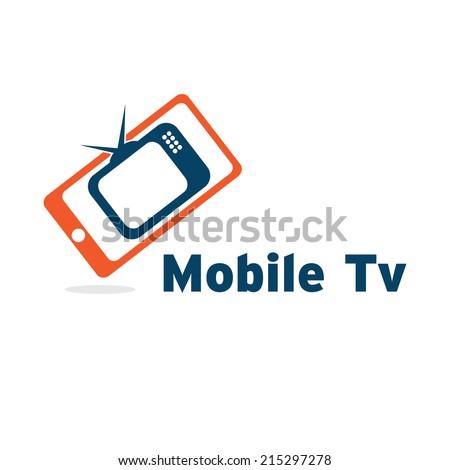 mobile tv - stock vector