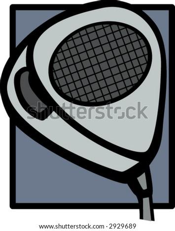 mobile two-way radio microphone - stock vector