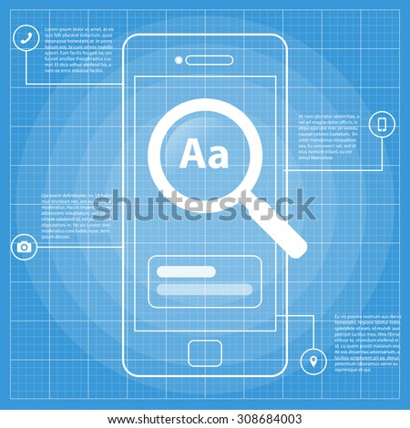 Mobile wireframe blueprint app ui kit stock vector 308684003 mobile wireframe blueprint app ui kit screen search screen which can be used in malvernweather Choice Image