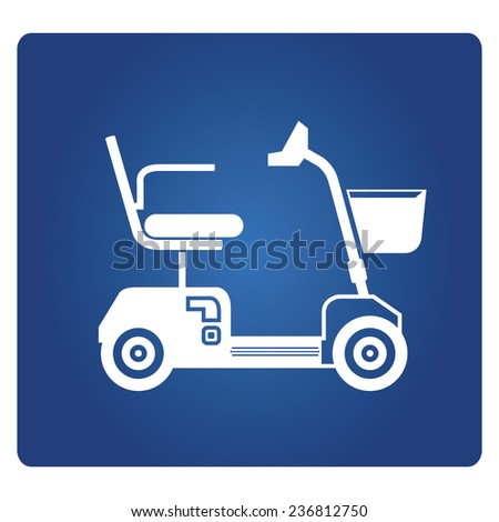 mobility scooter - stock vector