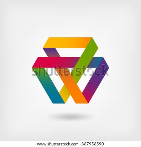 Mobius strip multi-color symbol - vector illustration. eps 10 - stock vector