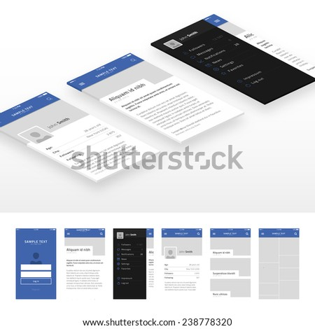 Mock up and Mobile Web UI Template / eps10 vector illustration /  - stock vector