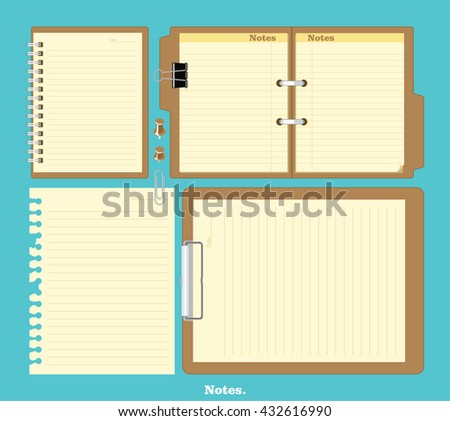Mock-up notebook with stylish illustration vector design