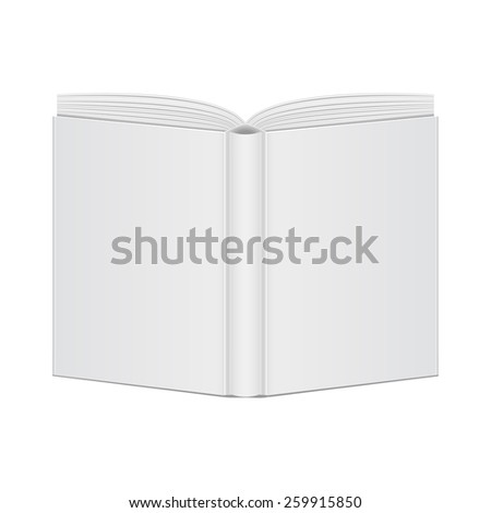 mockup book blank cover view back. vector illustrations - stock vector