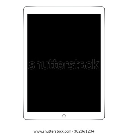 mockup tablet in ipades style isolated on white background - stock vector