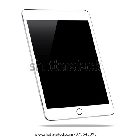 mockup tablet similar to ipad air isolated on white background - stock vector