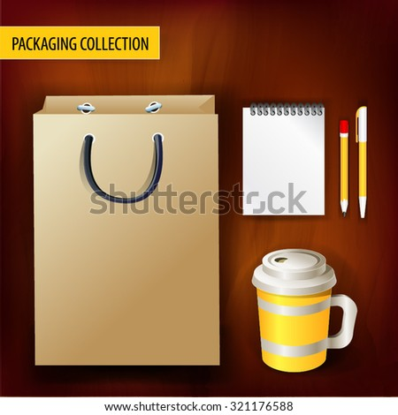 Mockup template for branding and product designs - stock vector
