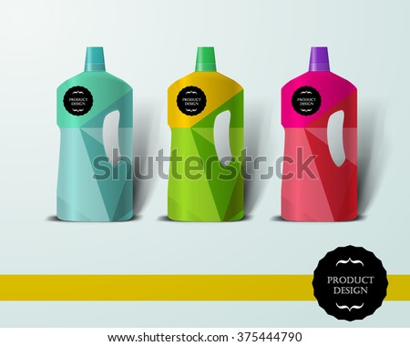 Mockup template for branding and product designs. Isolated realistic bottle with unique design. Easy to use for advertising branding and marketing. - stock vector