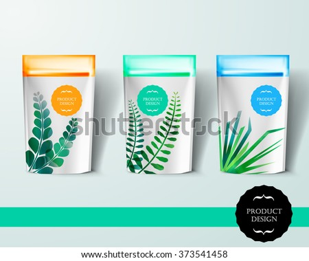 Mockup template for branding and product designs. Isolated realistic pack with unique design. Easy to use for advertising branding and marketing. - stock vector