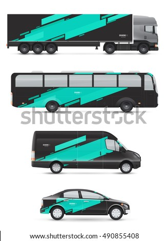 Vehicle Graphics Stock Images RoyaltyFree Images Vectors - Modern business vehicle decals