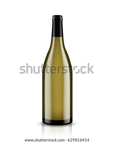 Mockup wine bottle. vector design.