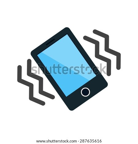 mode mobile vibrate icon vector image stock vector 287635616 shutterstock. Black Bedroom Furniture Sets. Home Design Ideas