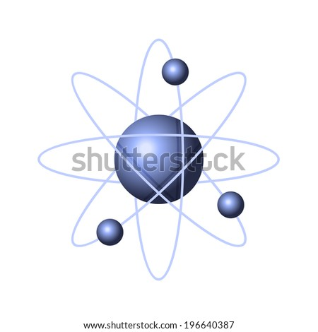 Model of Abstract Atom Structure. Vector illustration