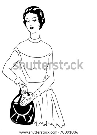 Model 90 years - stock vector