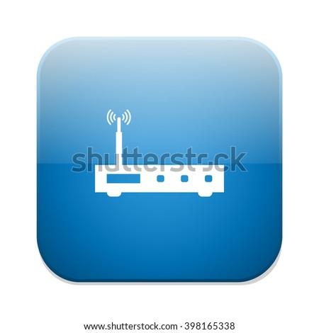 modem icon - stock vector