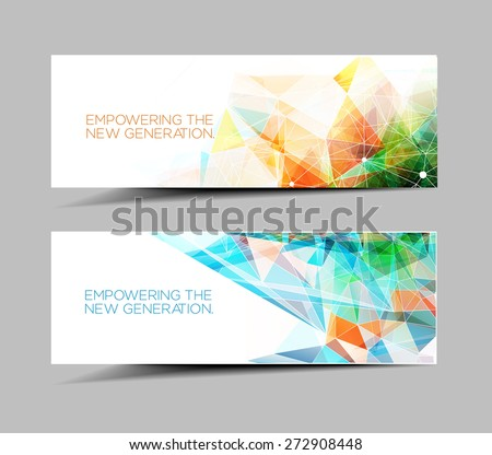 Modern Abstract Ad, Web Banner & Header Layout Template. - stock vector
