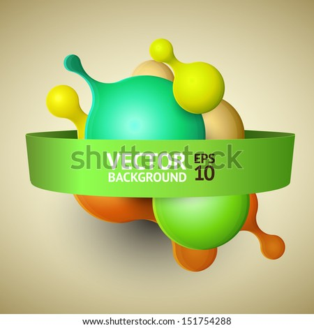 Modern abstract background illustration with vector design elements