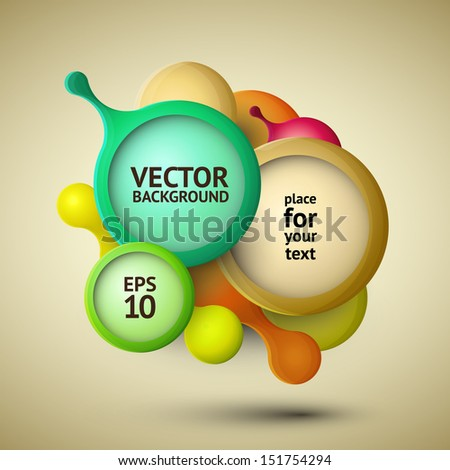 Modern abstract background illustration with vector design elements - stock vector