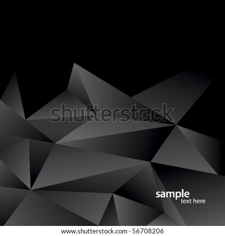 Modern abstract background of black triangles - stock vector