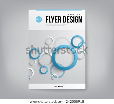 Modern abstract brochure, flyer, report design, layout template. Clean style cover, cummunication, business. corporate - stock vector