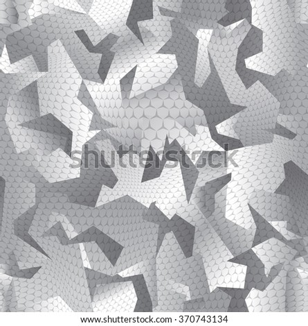 Modern abstract camouflage seamless pattern grey - stock vector