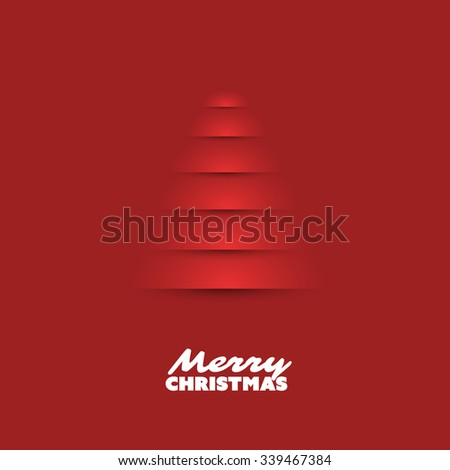 Modern Abstract Christmas Greetings Card Design With Christmas Tree Background - stock vector