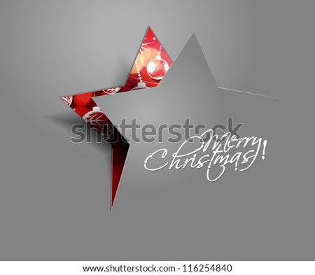 Modern abstract christmas star background, eps10 vector illustration - stock vector
