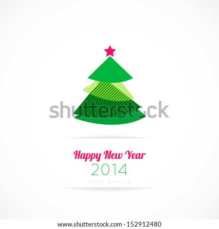 Modern abstract christmas tree background eps 10 - stock vector