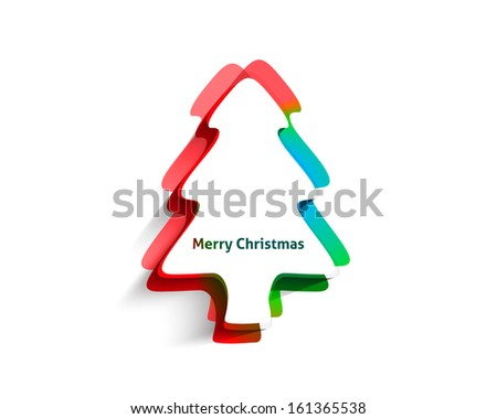 Modern abstract christmas tree background, eps10 vector illustration  - stock vector