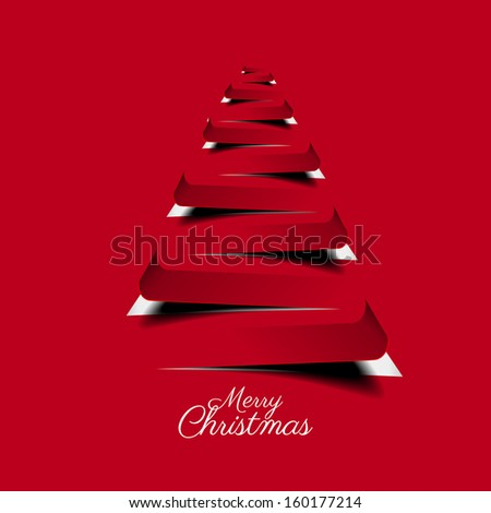 Modern abstract christmas tree background - vector illustration - stock vector