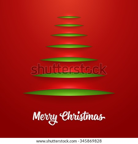 Modern abstract christmas tree background. Vector illustration - stock vector