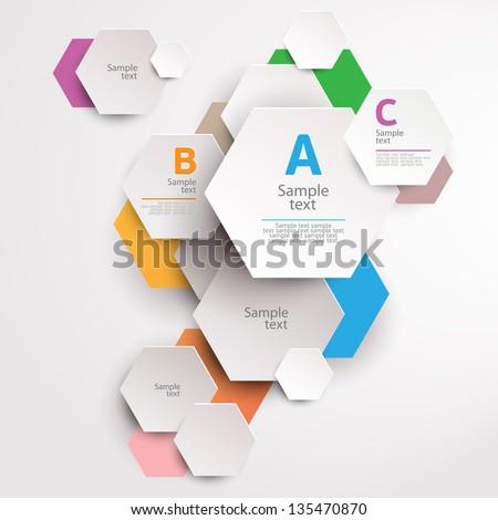 Modern abstract design - stock vector