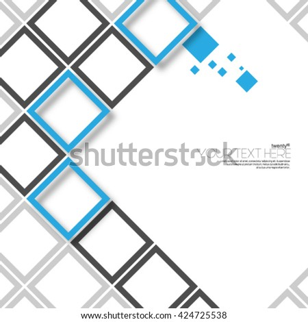 Modern Abstract Digital Squares Layout/Design Cover Background - stock vector