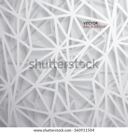 Modern Abstract Polygon Vector Design - stock vector