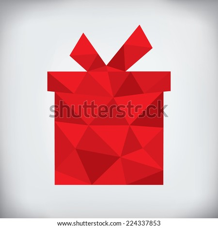 Modern abstract style - origami paper christmas gift design