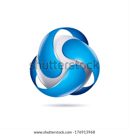modern abstract technological business colorful icon on white background - stock vector
