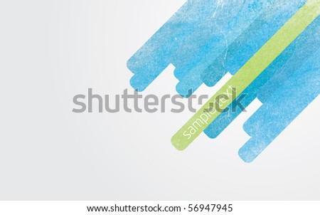 Modern abstract vector illustration with color lines with grunge effect and gradient background - stock vector