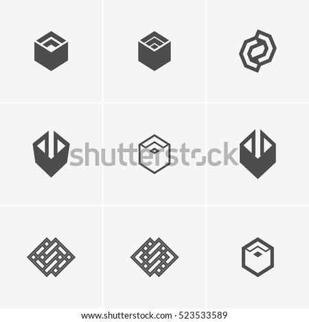 Modern abstract vector logo element design stock vector for Easy way to create a logo