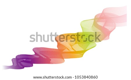 Line Art Effect Photo : Modern abstract wave line art background stock vector 1053840860