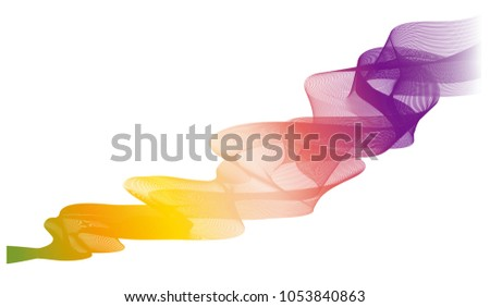Line Art Effect Photo : Modern abstract wave line art background stock vector 1053840863